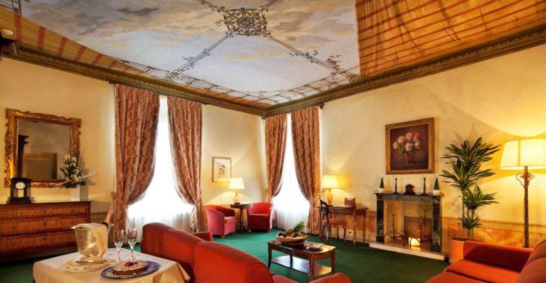 blue hotel Palazzo Arzaga